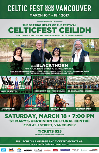 CelticFest Vancouver Ceilidh Saturday March 18, 2017