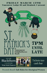 St. Patrick's Day at Vancouver Odd Fellows Hall