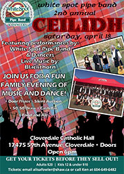 White Spot Pipe Band 2nd Annual Ceilidh